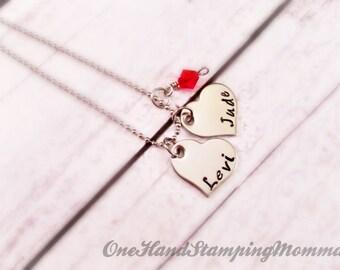 Hand Stamped Jewelry - Personalized Jewelry - Hand Stamped Necklace - Mom Necklace - Child Name Necklace