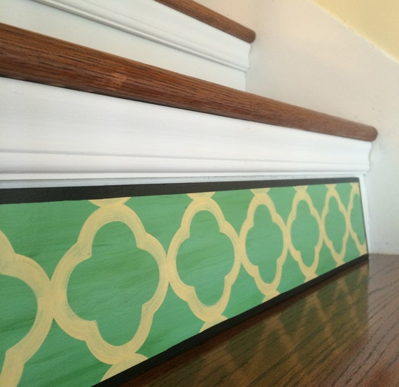 Items Similar To Green Quatrefoil / Boho Home Decor