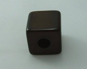 Cube polaris 20 mm shiny brown