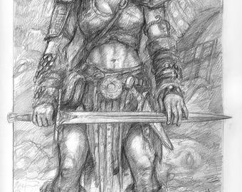 BARBARIAN, Original Drawing