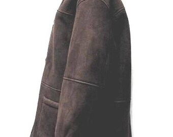 Ralph Lauren Coat Sheepskin Shearling Brown Medium Outer Measures 25 inches x 31 inches