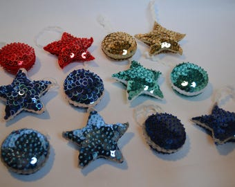 Circle and Star Bauble, Set of two