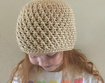 Crossed Double Beanie Crochet Pattern *PDF FILE ONLY* Instant Download