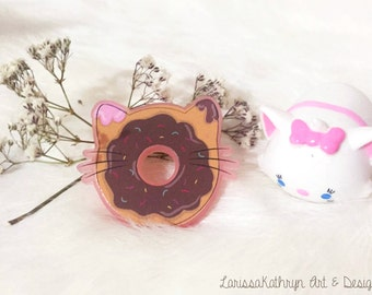 Cat Donut Brooch