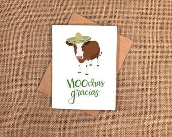 MOOchas Gracias Card