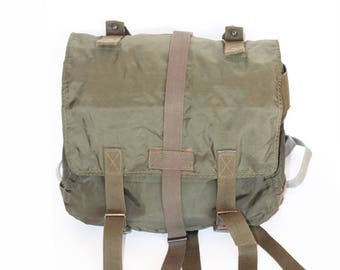 Waterproof Military Backpack, Travel Bag, Vintage Backpack, Army Rucksack, Green Camping and Hiking Pack, Vintage Haversack, School Bag