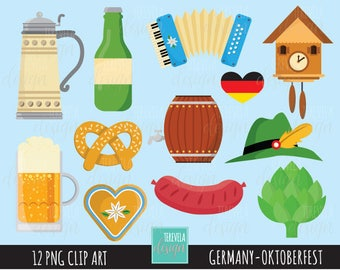 50% SALE octoberfest clipart, germany clipart, commercial use, cute, Europe, octoberfest graphics, cute clipart, beer clipart
