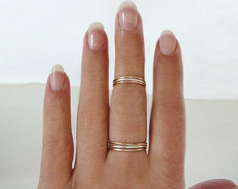 1 Sterling Silver Ring, stacking skinnies thin skinny stacker rings midi knuckle ring