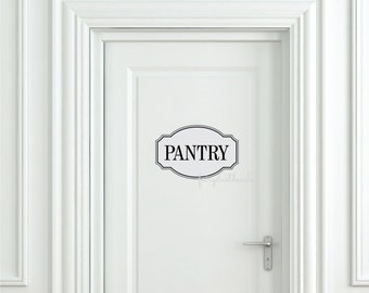 Pantry Decal with Fancy Frame  Door Lettering Vinyl Letters  Kitchen Pantry decor Kitchen Pantry Wall Decal Pantry Decal Sticker Door Decal