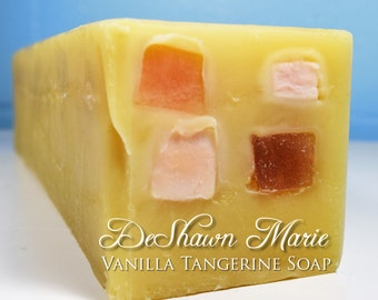 SOAP - 3.5 lb Vanilla Tangerine Handmade Soap Loaf, Wholesale Soap Loaves, Vegan Soap, Cold Processed Soap, Natural Soap, FREE SHIPPING