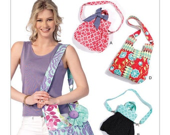 McCall's Sewing Pattern M7418 Shoulder Bags with Decorative Accents