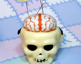 Skull Brains for Zombies Pincushion