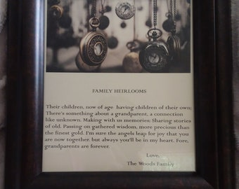 Family Heirlooms.  A personalized poem in remembrance of Grandparents.