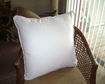 White Pillow Cover, White Cotton Twill Pillow Cover, Euro Pillow Cover
