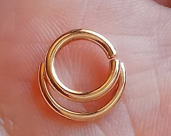 Septum ring,Nose ring,Daitch ring, Tragus ring, Helix ring,Solid gold,Gold Filled, Silver