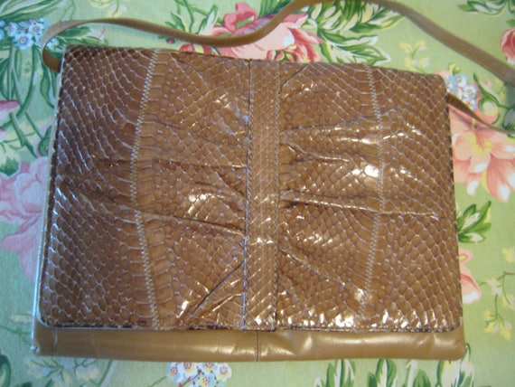 Eel Skin Shoulder Bag by Koret