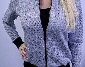 Bomber gray jacket, bomber jacket, gray jacket, women, MLcreation clothes