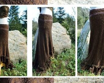 Brown lac skirt