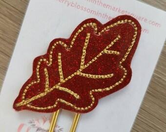 Autumn Oak Leaf Paper Clip