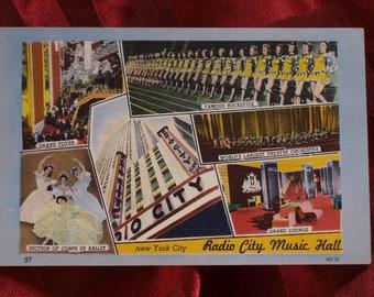 Radio City Music Hall New York City Postcard Colourpicture Publication Boston K6739 #97 Rockettes Ballet Tourist architecture