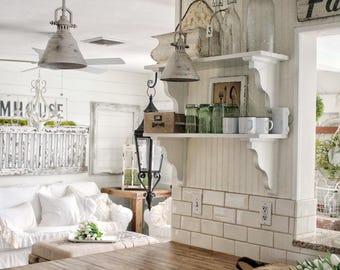Set of 4 - White enamel mugs with black rim | Enamel Mugs | Farmhouse Decor | Farmhouse Kitchen