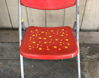 Vintage Children's Chair/ Industrial Chair/ MidCentury Chair