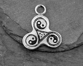 Pewter Yin Yang Pendant Jewelry
