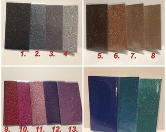 Bling Glitter - Vinyl Checkbook cover,Duplicate or Single Checks, No wait Ready to Ship