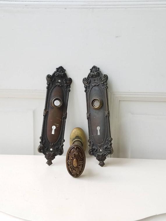 Complete Set Victorian Door Hardware, Antique Door Knobs, Door ...