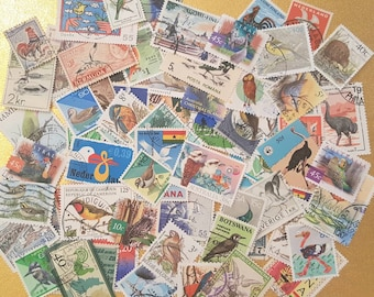 BiRDs on Used Postage Stamps Collection. Lovely Worldwide Lot of 75.   Lot #3.