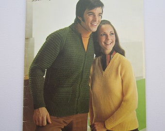 Patons No. 136 The Classic Look for Sizes 32-48 by Beehive - Vintage Knitting Pattern Booklet