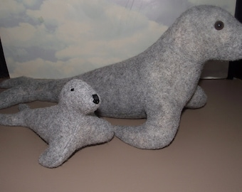 Harp Seal Stuffed Animal Pattern for you to SEW, 2 sizes