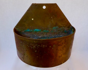 ON HOLD: Vintage Copper and Verdigris Wall Box