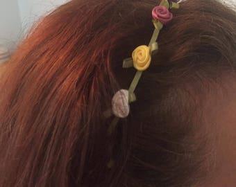 Mini silk flowers Hairtie