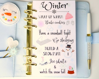 Winter Personal, A5, A6, B6 & Pocket Planner Dashboards