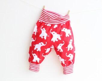JUNGLE Baby Boy Girl Harem Pants sewing pattern Pdf, Knit Jersey Woven, Baby Toddler Pants pattern, newborn 3 6-9  12 18m 1 2 3 4 5 years