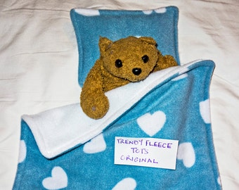 DOLL or teddy BEDDING blanket pillow set for pram or cot