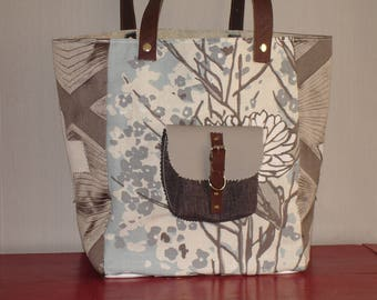 tote bag of cotton and linen and cotton and silk
