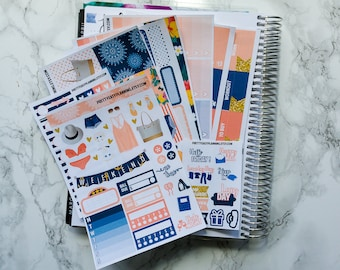 World Travel Sticker Kit - Erin Condren vertical - Happy Planner - weekly sticker kit -  summer - vacation - beach - holiday