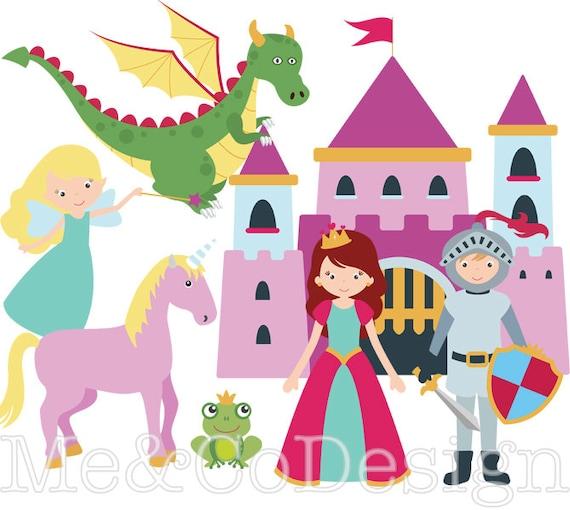 fairy tale clipart fun cute clipart knight and princess rh etsy com fairy tale clip art free fairy tale clip art teachers