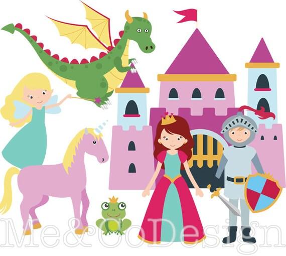 Fairy Tale Clipart Fun Cute Clipart Knight And Princess