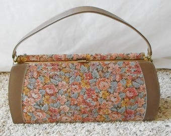 Vintage 1950s 1960s Life Stride Mar-shel Fine Handbag, Penco Manufacturing Co, Vintage Purse, Vintage Handbag, Tapestry Purse, Life Stride