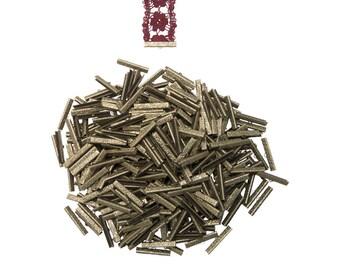 500 pieces   35mm  (1 3/8 inch)  Antique Bronze Ribbon Clamp End Crimps - Artisan Series