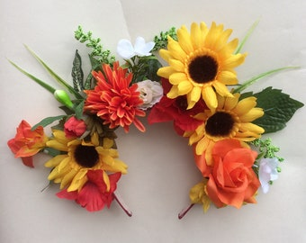 Sun Flower Floral Crown