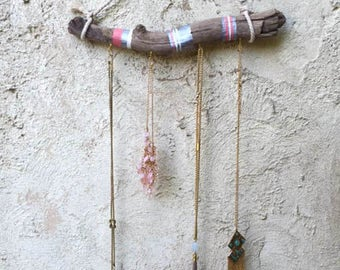 Boho  jewelry hanger | necklace display | necklace hanger | driftwood jewelry display | wall hanging | bohemian decor | boho decor | rustic