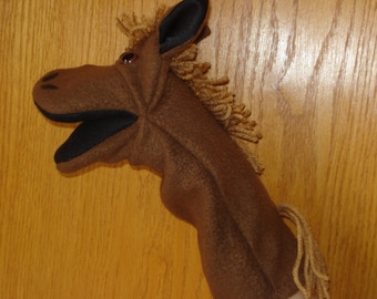 Ready to ship  Horse hand puppet Pony mouth puppet