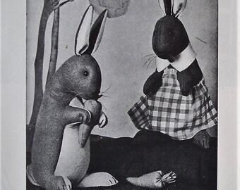 Felt Toys vintage 30s 70s needlework book - soft toys sewing patterns - monkey elephant rabbit dog mouse duckling - 1930s 1970s leather toys