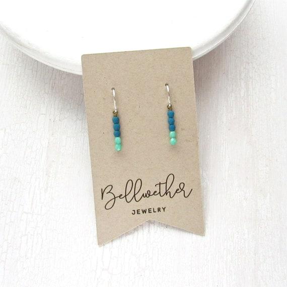WHOLESALE LISTING // Dainty Drop Earrings - Turquoise // EDDT