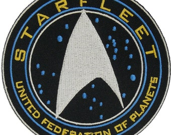 Star Trek Beyond Starfleet United Federation of Planets Halloween Costume Embroidery Patch Easy Iron/Sew On …