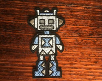 Robot - Iron on Appliqué Patch